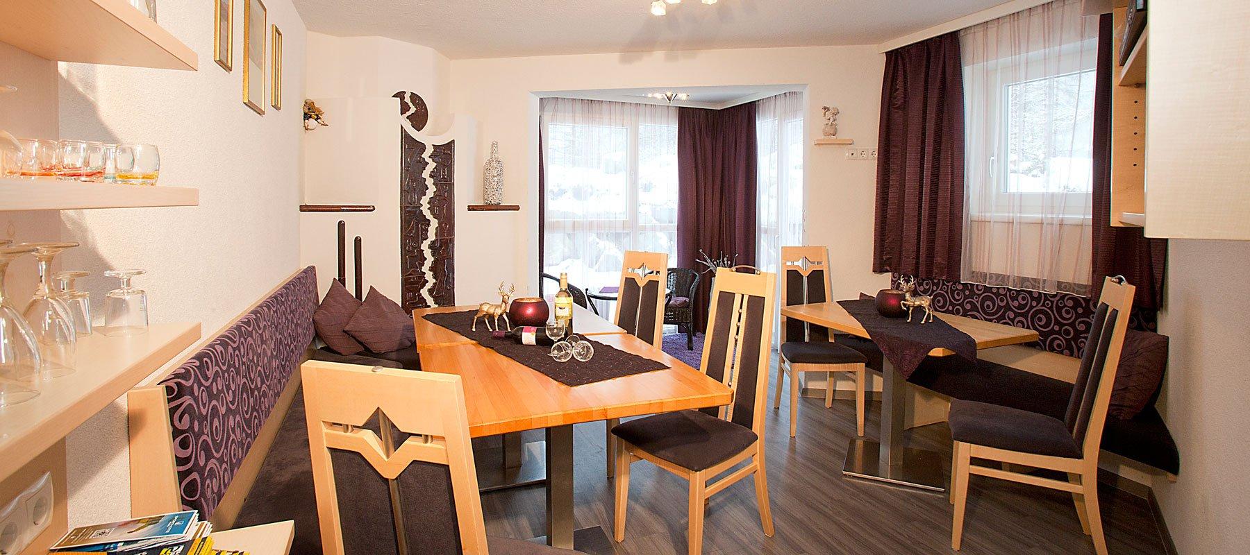 Wohnbereich im Haus Alpenflora